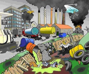 Tipos de contaminantes satirnet safety for Suelo organico dibujo animado